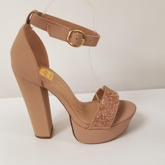 Shoes | Womens Nude Platform High Heels
